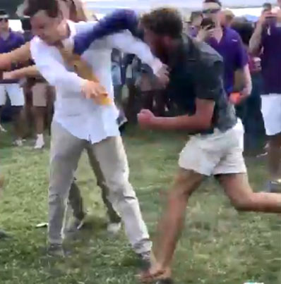 Dude With A Broken Arm Decks Some Poor Bastard Trying To Stop A Fight 😭💀💀