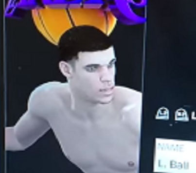NBA 2K18 Glitch Causes Lakers Rookie Lonzo Ball To Be Naked In The Game 😂😂😂