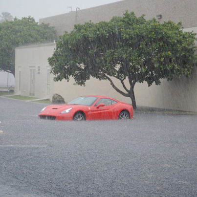 Hurricane Harvey Destroys Rich Homeowners Expensive Cars 😲