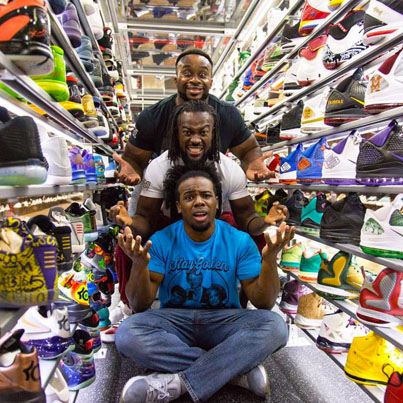 Sneaker Shopping With WWE Superstars 'The New Day' ✨⚡️⚡️⚡️✨