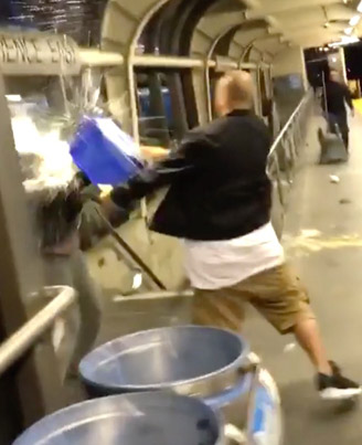 Toronto Bucket Ting Gets Baptized In Subway Mop Water 😂😂🇨🇦