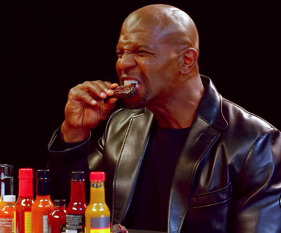 Terry Crews Hallucinates While Eating Spicy Wings 😂😂😂