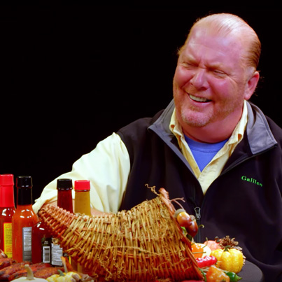 Mario Batali Celebrates Thanksgiving With Spicy Wings 😩😂🦃