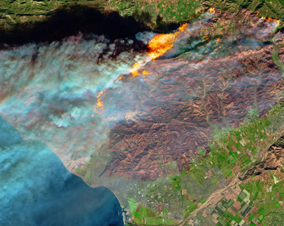 California Wildfires Astonishing Aerial Footage From Space 😱
