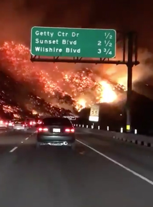 GONE WITH THE WIND: LOS ANGELES BURNS 😱😱😱