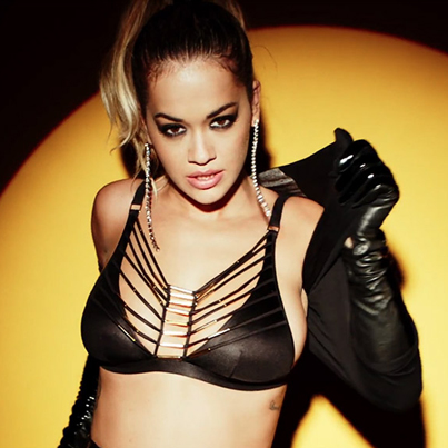 Rita Ora In Leather And Lace For LOVE Advent Calendar 👀