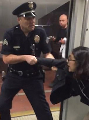 LAPD Arrest Woman For Having Her Feet On Train Seat 😤😤😤
