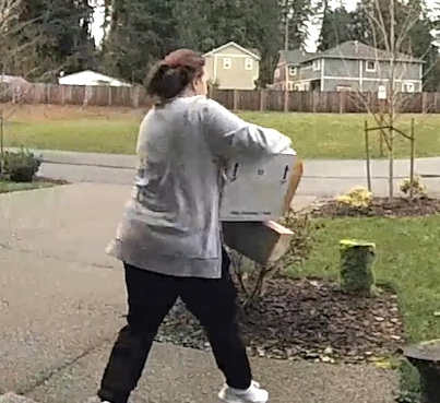 Package Thief Slips On Wet Grass And Snaps Her Leg 😂💀