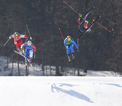 Winter Olympics Carnage: Canadian Crashes In Men's Ski Cross 🇨🇦🚨🚑