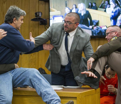 Father Of 3 Girls Molested By Larry Nassar Attempts To Attack Him In Court 👍👍👍