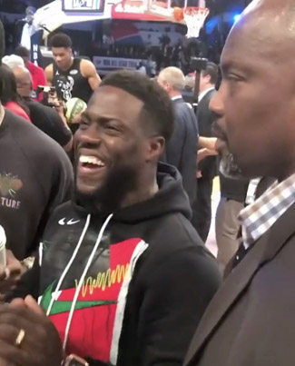 Kevin Hart Warns Quavo To Stay Away From NBA All Star Game Next Year 😂😂😂