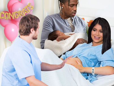 Kylie Jenner Gives Birth To First Child With Travis Scott 💕💕💕