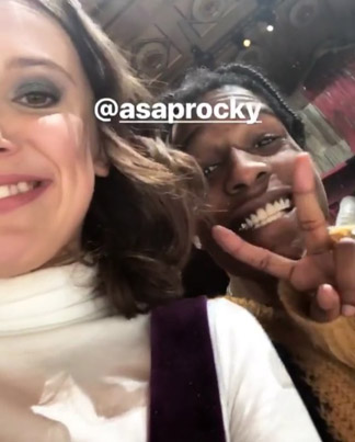 Millie Bobby Brown Kicks It With A$AP Rocky At Calvin Klein's NYFW Show ✌️💯