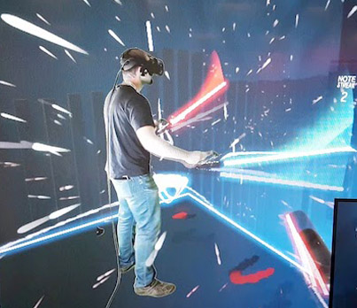 New Virtual Reality Game 'Beat Saber' Is Basically Guitar Hero With Lightsabers 🔥💪😉