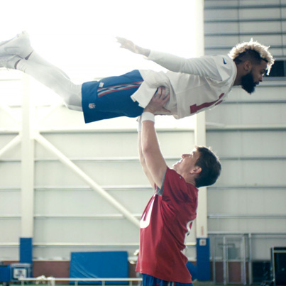 "Odell Beckham Jr And Eli Manning's ""Dirty Dancing"" Super Bowl Commercial 😂😂😂"