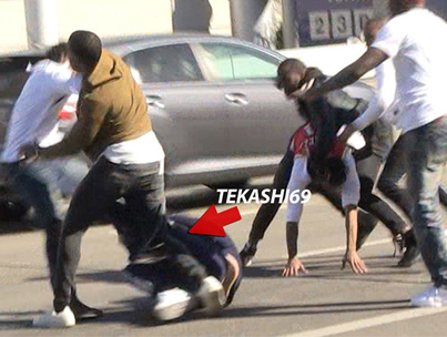 Tekashi69 And His Crew Get Into A Massive Brawl At LAX Airport 😂😂😂💀💀