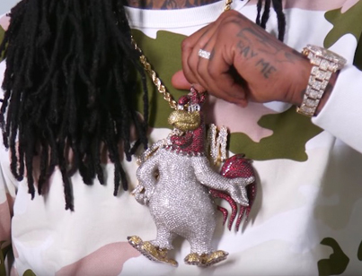 Waka Flocka Flame Shows Off His Insane Jewelry Collection ❄️❄️❄️