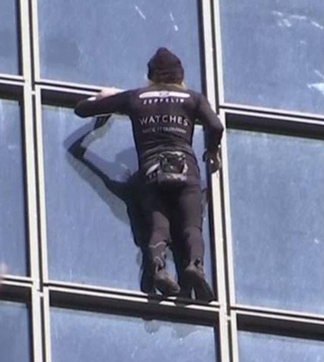 """55-Year-Old """"French Spider-Man"""" Climbs 587-Foot Building In 30 Minutes 😎👊"""