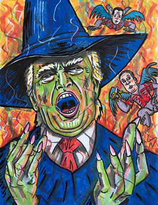 Jim Carrey Under Fire For Controversial Paintings Of Trump And Others 😂😂😂
