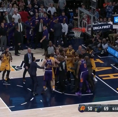 TEMPERS FLARE IN JAZZ-SUNS 🚚🚮🚮🚮