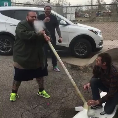 Action Bronson Rips A 6 Foot Bong For 420 😳💨🔥