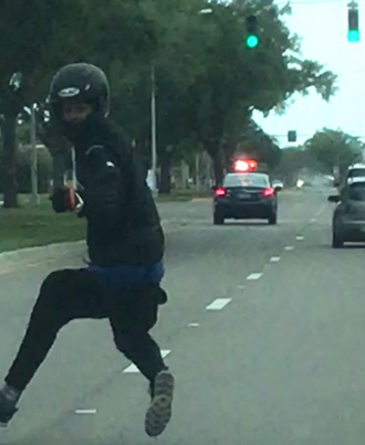 Driver Crashes Into Motorcycle During Florida Road Rage 💀💀