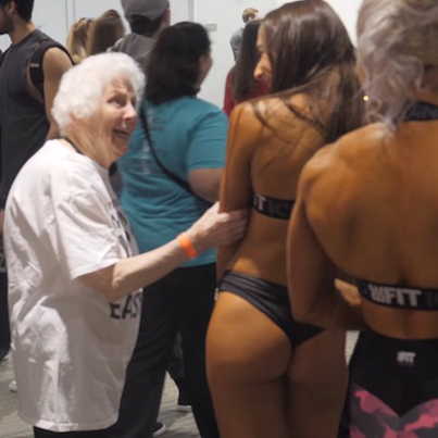 Savage Grandma Talks Shxt To Juiced Up Bodybuilders And Fitness Tings 😂😂😂😂😂