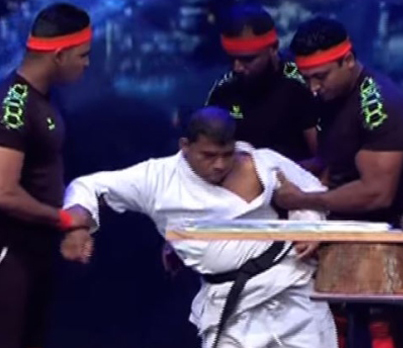 Sri Lanka's Got Talent Contestant Knocks Himself Out During His Routine 😂😂😂