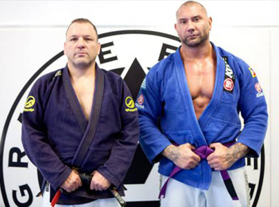 WWE Wrestler Dave Batista Gets His BJJ Purple Belt 😱