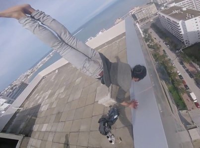 Bucktee Does A Handstand On Skyscrapers Roof 😵😵😵