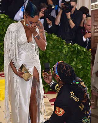 2 Chainz Proposes To His Shordie At The Met Gala 😎💍🙌