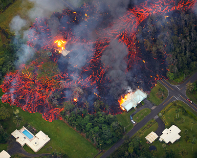 Aerial Footage Of Volcanic Lava Destroying Homes In Hawaii 😭😔🙏