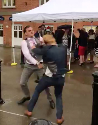 Meanwhile In England: Fists Were Flying At This Prestigious Ascot Racecourse 😵😵😵
