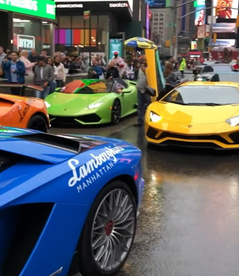 Lambo Squad: New Yorkers Love Flames 😍🔥😱