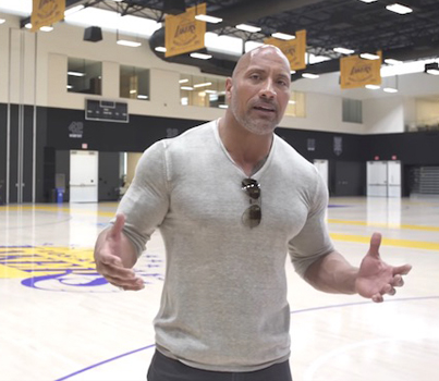 The Rock Teaches The LA Lakers How To Be World Champions 👏👏👏
