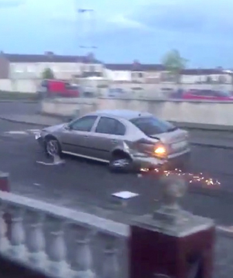 Waste Yutes Hold A Demolition Derby On Residential Streets In Ireland 😱😱😱