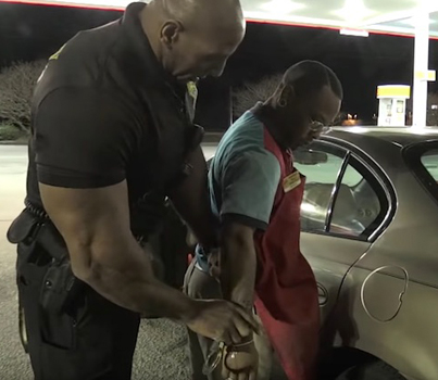 Jacked Cop Busts Weed Slinging Gas Station Employee On His Break 😂😂😂