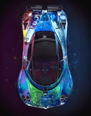 One-Of-A-Kind Hand-Painted Pagani Zonda S Supercar 💣💣