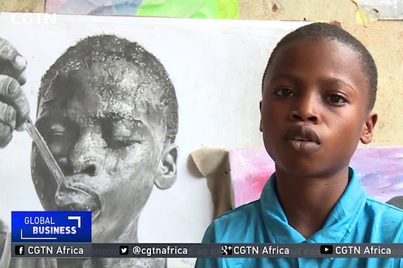 11-Year-Old Nigerian Boy Paints Incredibly Life Like Works Of Art 👍👍