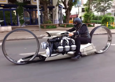 Insane Hubless Motorcycle Powered By An Actual Airplane Engine 😮😮😮