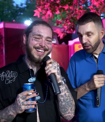 Post Malone Chats To Tim Westwood At The Wireless Festival 😅😅😅