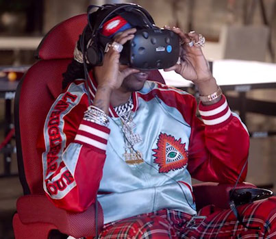 2 Chainz Tries Out A $3M Virtual Reality Game 😂🔥