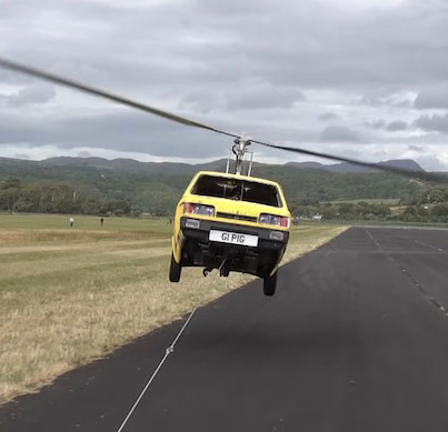 Dude Converts A 3 Wheeled Car Into A Helicopter 😂😂😂