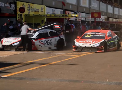 Mayhem In The Pits: Race Car Plows Into A Group Of Mechanics 😵😵😵