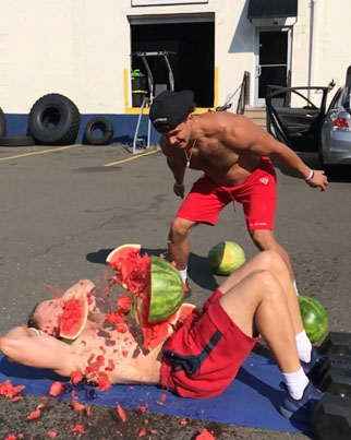 Watermelons Being Broken On Your Abs Is The Newest Ab Workout Trend 😂😂🍉