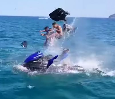 Jet-Ski Explodes In Morocco And Sends Passengers Flying 😳😳😳