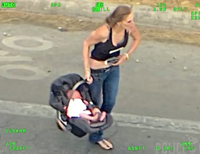 Woman With Baby Leads Police On A Wild Car Chase Before Crashing 😦😦😦