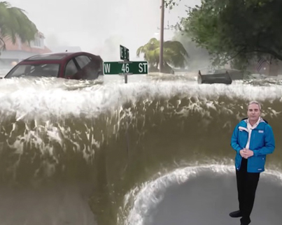 Weather Channel Rolls Out Dope Graphics To Show Hurricane Florence Conditions 😱🌪️