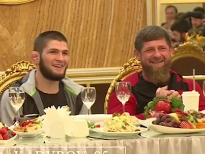 Khabib Breaks Bread With Chechen Dictator At Russian MMA Club 🤔🤔🤔