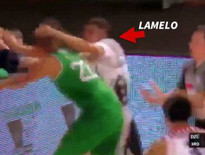 LaMelo Ball Ejected For Slapping Opponent In Lithuania 😭😭💀